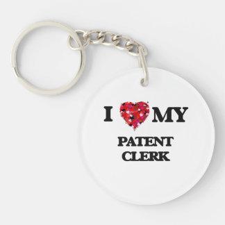 I love my Patent Clerk Single-Sided Round Acrylic Keychain