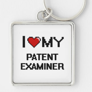 I love my Patent Examiner Silver-Colored Square Keychain