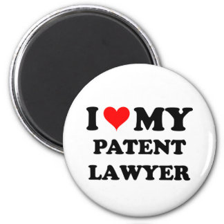I Love My Patent Lawyer 2 Inch Round Magnet