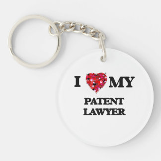 I love my Patent Lawyer Single-Sided Round Acrylic Keychain