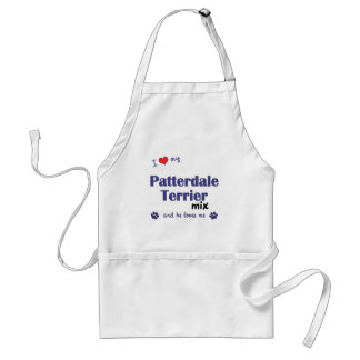 I Love My Patterdale Terrier Mix (Male Dog) Adult Apron