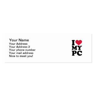 I love my PC Double-Sided Mini Business Cards (Pack Of 20)