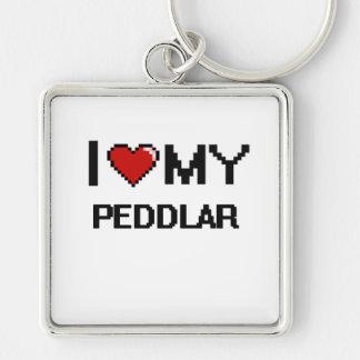 I love my Peddlar Silver-Colored Square Keychain
