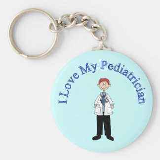 I Love My Pediatrician Keychain