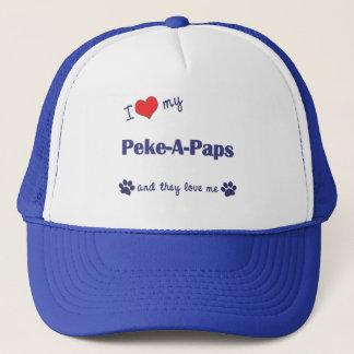 I Love My Peke-A-Paps (Multiple Dogs) Trucker Hat