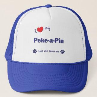 I Love My Peke-a-Pin (Female Dog) Trucker Hat