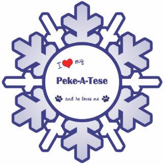 I Love My Peke-A-Tese (Male Dog) Statuette