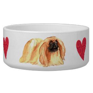 I Love my Pekingese Bowl