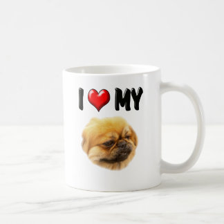I Love My Pekingese Coffee Mug
