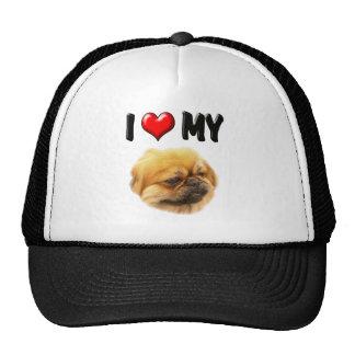 I Love My Pekingese Mesh Hats