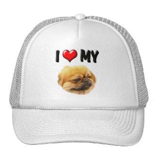 I Love My Pekingese Hat