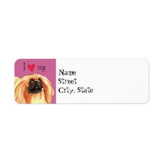 I Love my Pekingese Label