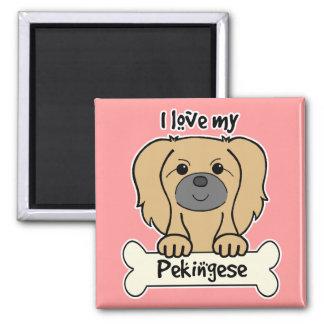 I Love My Pekingese Magnet