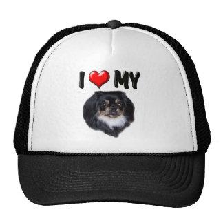 I Love My Pekingnese Black Hats