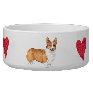 I Love my Pembroke Welsh Corgi Bowl