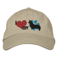 I Love my Pembroke Welsh Corgi Embroidered Hat Embroidered Hat