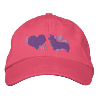I Love my Pembroke Welsh Corgi Embroidered Hat Embroidered Baseball Cap