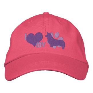 I Love my Pembroke Welsh Corgi Embroidered Hat