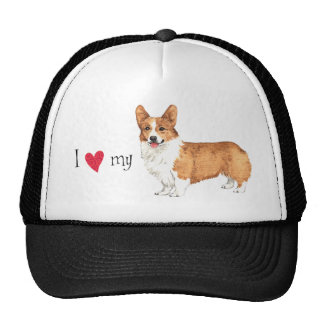I Love my Pembroke Welsh Corgi Trucker Hat