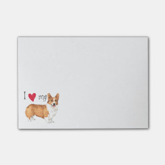I Love my Pembroke Welsh Corgi Post-it® Notes