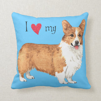 I Love my Pembroke Welsh Corgi Throw Pillow
