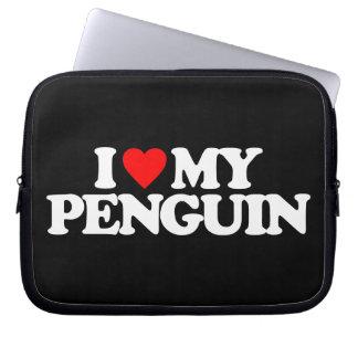 I LOVE MY PENGUIN LAPTOP COMPUTER SLEEVE