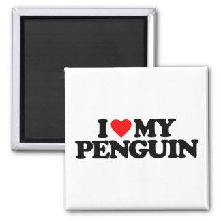 I LOVE MY PENGUIN MAGNET