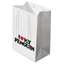 I LOVE MY PENGUIN MEDIUM GIFT BAG