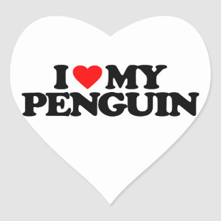 I LOVE MY PENGUIN STICKER