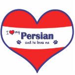 I Love My Persian (Male Cat) Photo Cutout