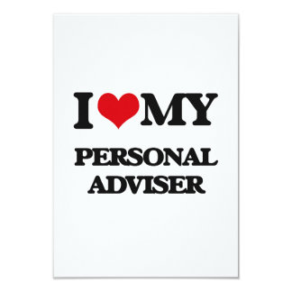 I love my Personal Adviser Custom Announcement