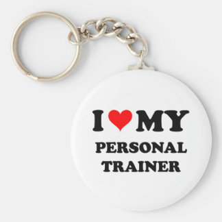 I Love My Personal Trainer Keychains