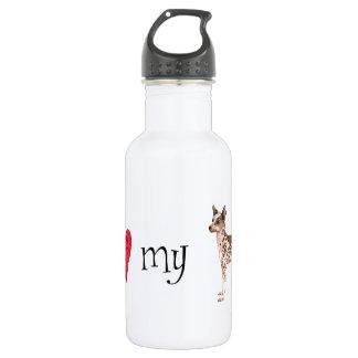 I Love my Peruvian Inca Orchid 18oz Water Bottle