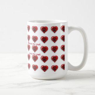 I Love My Pet Coffee Mugs
