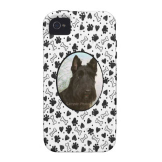 I Love My Pet Dog Custom Photo in Black and White Case-Mate iPhone 4 Covers