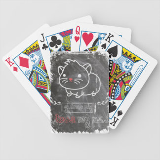 I Love My Pet Guinea Pig Animals Bicycle Playing Cards