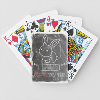 I Love My Pet Rabbit Animals Bicycle Playing Cards