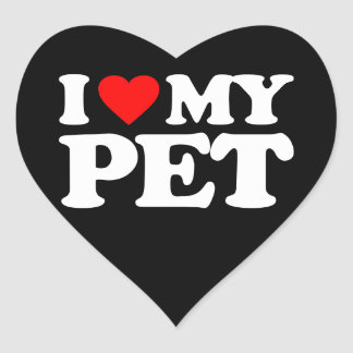 I LOVE MY PET HEART STICKER