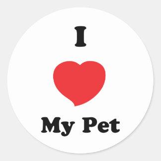 I LOVE my pet Round Stickers