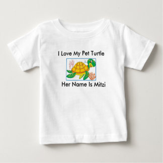 """""""I LOVE MY PET TURTLE"""" TODDLER'S T-SHIRT"""