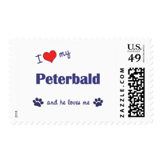 I Love My Peterbald (Male Cat) Stamps