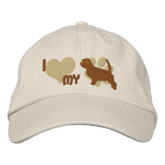 I Love my Petit Basset Griffon Vendeen Embroidered Hats