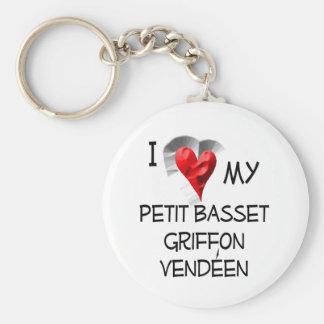 I Love My Petit Basset Griffon Vendeen Keychain