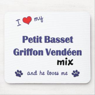 I Love My Petit Basset Griffon Vendeen Mix (Male) Mouse Pad