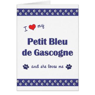 I Love My Petit Bleu de Gascogne (Female Dog) Card