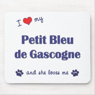 I Love My Petit Bleu de Gascogne (Female Dog) Mouse Pad