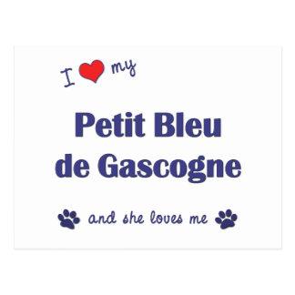 I Love My Petit Bleu de Gascogne (Female Dog) Postcard