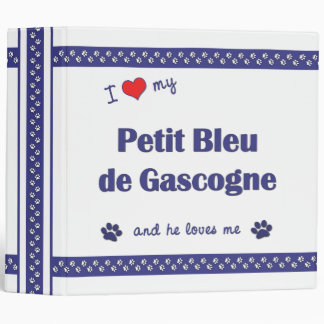 I Love My Petit Bleu de Gascogne (Male Dog) Binders