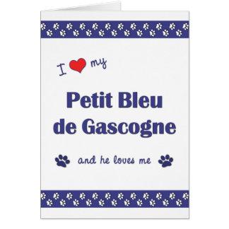 I Love My Petit Bleu de Gascogne (Male Dog) Card