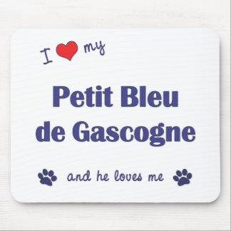 I Love My Petit Bleu de Gascogne (Male Dog) Mouse Pad